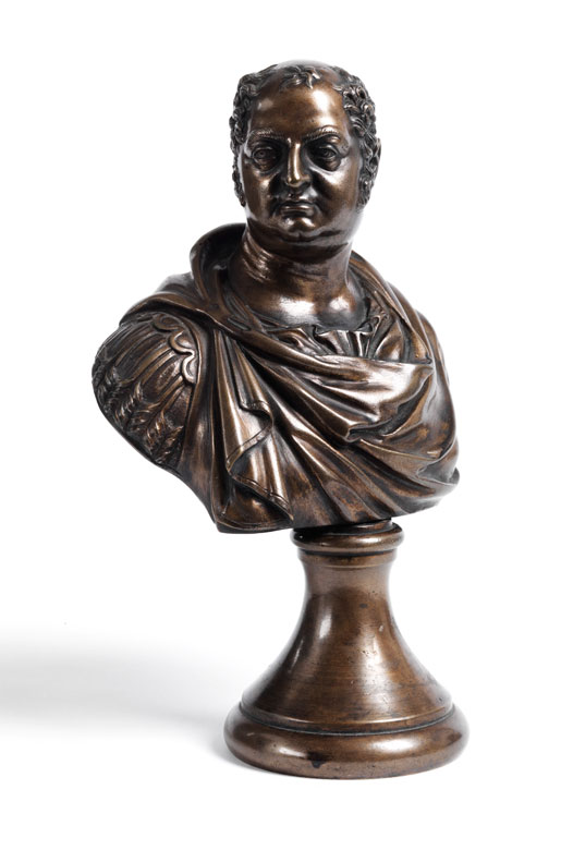 Kleine Cäsarenbüste in Bronze