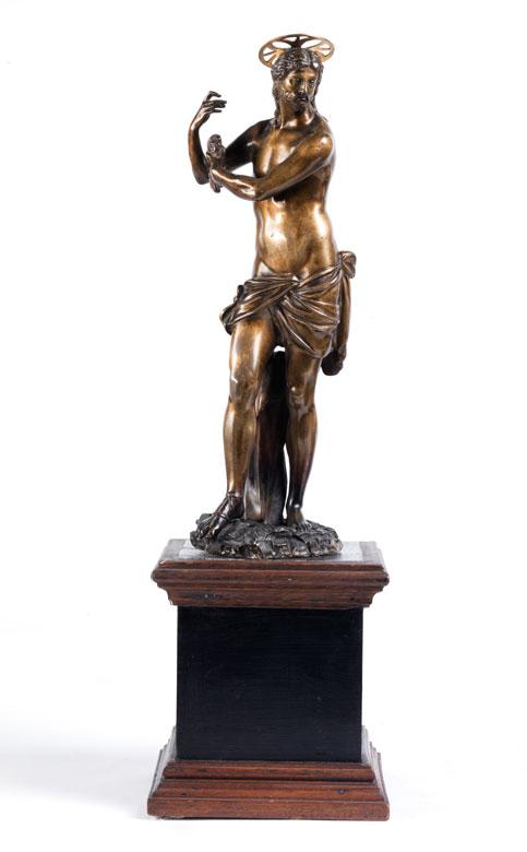 Christusfigur in Bronze nach der Marmorfigur Michelangelos in der Kirche Santa Maria Sopra Minerva in Rom