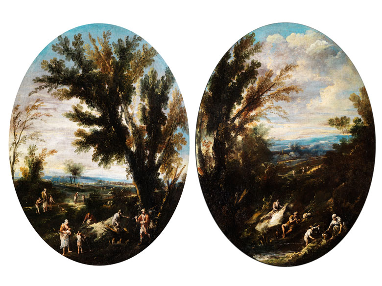 Alessandro Magnasco, 1667 Genua - 1745 und Antonio Francesco Peruzzini, 1668 Ancona - 1724 Milano