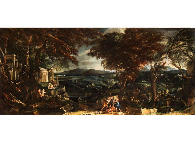 Italienischer Maler aus dem Künstlerumkreis von Alessandro Magnasco, 17. Jahrhundert