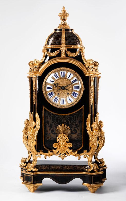 Große, französische Napoléon III-Pendule