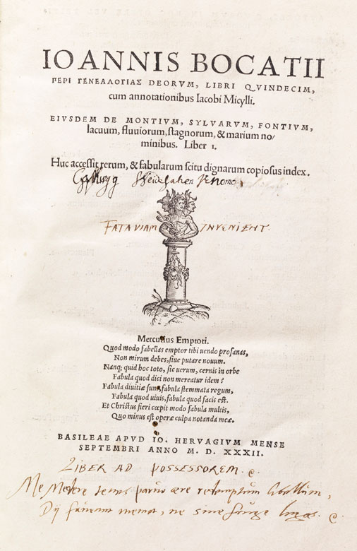 Boccaccios Genealogien mit 13 Holzschnitten von 1532