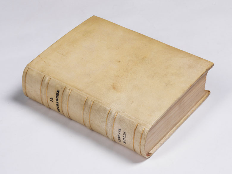 Petrarca und Laura 1553 mit Holzstichen