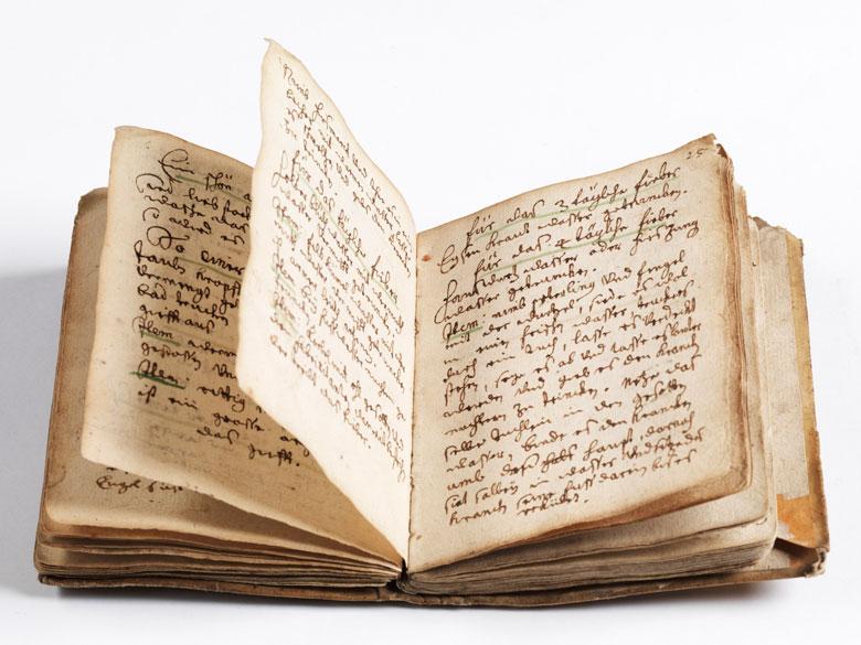 Manuskript von 1681 zu Medizin und Heilkräutern