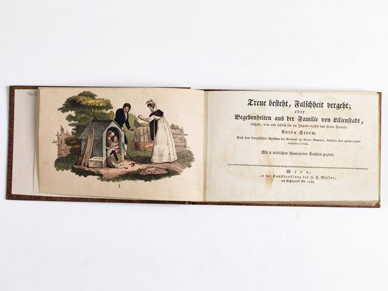 Biedermeier-Kinderbuch mit 8 Tafeln in schönem Kolorit