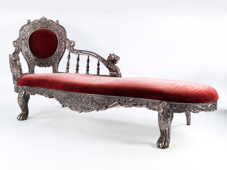 Kolonialmöbel: Chaiselongue - Hampel Fine Art Auctions on chaise sofa sleeper, chaise recliner chair, chaise furniture,
