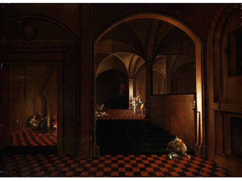 Hendrick van Steenwyck d. J.; um 1580 - 1649, zug. Flämischer Architekturmaler