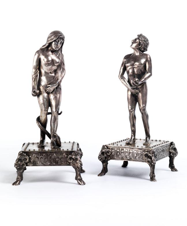 Figurenpaar in Silber