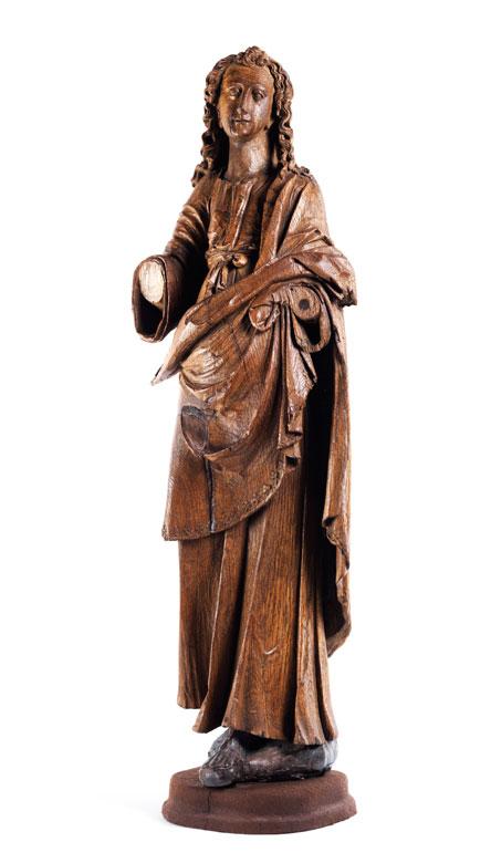 Schnitzfigur des Heiligen Johannes Evangelist