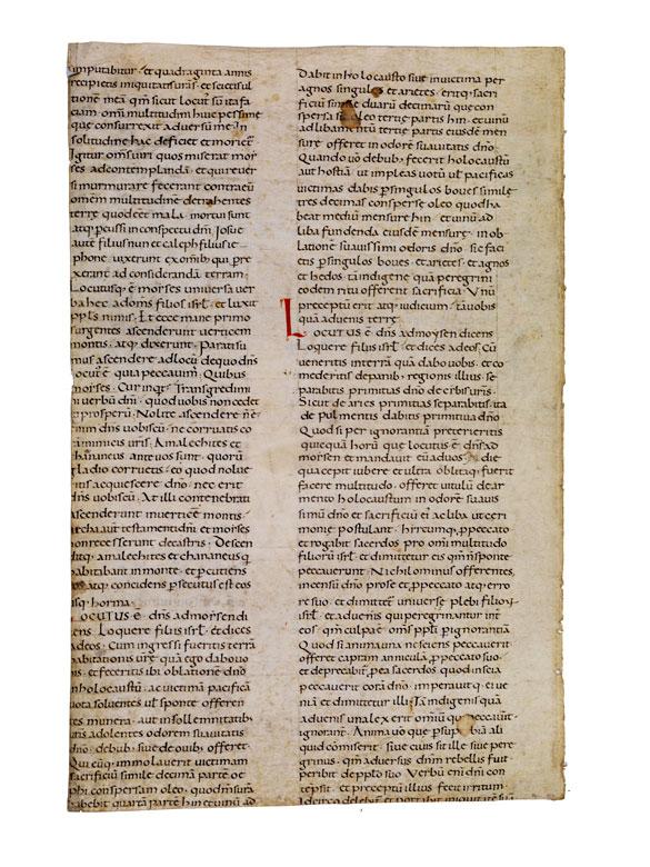 Fragment aus einer Riesenbibel des 12. Jahrhunderts.
