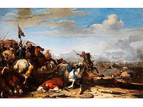 "Detail images:  Jacques Courtois, genannt ""Borgognone , 1621 Saint-Hippolyte - 1676 Rom"