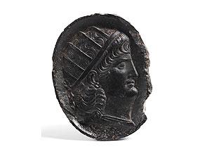 Detail images:  Reliefplatte mit Cäsaren-Reliefbildnis