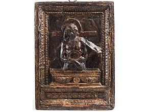Detail images:  Reliefplatte mit Darstellung des aus dem Sarkophag auferstehenden Christus