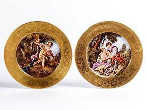 Detail images:  Paar Sèvres-Bildteller