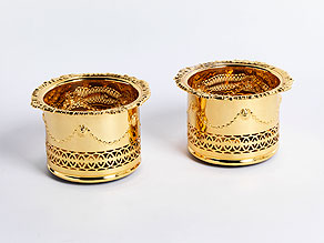 Detail images:  Paar Flaschenkörbe/ Cachepots