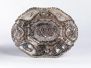 Detail images:  Silberkorb im Louis XVI-Stil