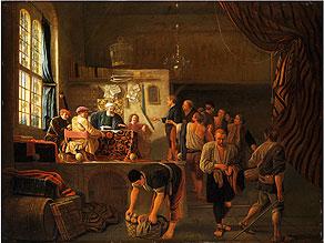 Niederländischer Maler,   1610 Rotterdam - 1670,  Nachfolge/ Umkreis des Hendrick Martensz Sorgh,