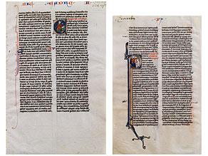 Detail images:  Zwei Miniaturen aus den französischen Proverbiae