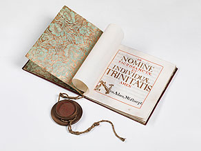 Detail images:  Der Illuminaten-General Weishaupt - Manuskript-Urkunde auf Pergament