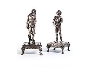 Detail images:  Figurenpaar in Silber