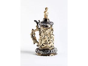 Detail images:  Deckelhumpen in Silber und Elfenbein
