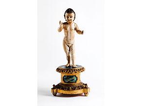 Detail images:  Elfenbeinfigur eines segnenden Jesuskindes