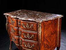 Detail images: Elegante, höfische Louis XV-Kommode