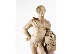 Detail images: Marmorfigur eines Bacchus
