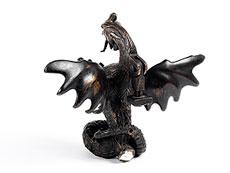 Detail images: Großer, figürlich gestalteter Türklopfer in Bronze