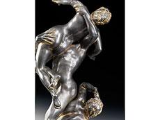 """Detail images: Bleigussfigur """"Raub der Sabinerin nach Modell von Giovanni da Bologna, 1529 - 1608"""