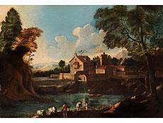 Detailabbildung: Italienischer Maler des 18. Jahrhunderts in der Stilnachfolge des Marco Ricci