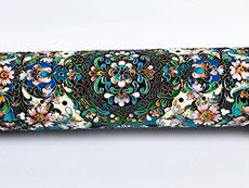 Detail images: Kapselhülle einer Esther-Rolle für das jüdische Purim-Fest