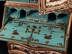 Detail images: Äußerst seltener und eleganter, venezianischer Aufsatzsekretär in Arte povera-Technik