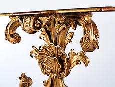 Detail images: Reich geschnitzte, italienische Wandkonsole