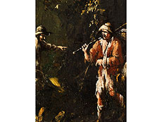 Detail images: Alessandro Magnasco, 1667 Genua - 1745 und Antonio Francesco Peruzzini, 1668 Ancona - 1724 Milano