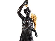 Detail images: Paar bedeutende Bronzekandelaber