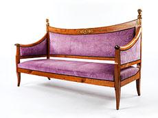 Detailabbildung: Klassizistische Sitzbank