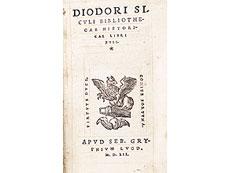 Detail images: Diodor von 1552 in Lyoneser Einband