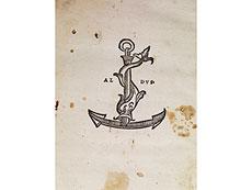Detail images: Aldo Manuzio 1521 mit zeitgenössischem Lederband im Stil der Aldus-Binderei