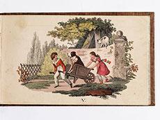 Detail images: Biedermeier-Kinderbuch mit 8 Tafeln in schönem Kolorit