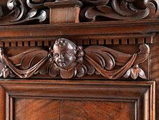 Detail images: Sächsischer Hochbarock-Schrank