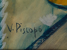 Detail images: Vittorio Piscopo, Maler des 20. Jahrhunderts