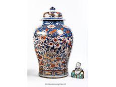 Detail images: Große chinesische Porzellanvase