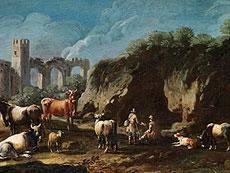 Detail images: Cajetan Roos, genannt Gaetano de Rosa, 1690 Rom - 1770 Wien, zug.