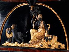 Detail images: Klassizistischer Wiener Wandspiegel