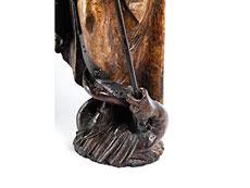 Detail images: Schnitzfigur eines Heiligen Georg