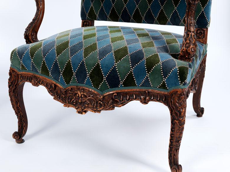 paar barock stil sessel hampel fine art auctions. Black Bedroom Furniture Sets. Home Design Ideas