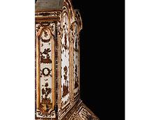 Detail images: Äußerst seltener und eleganter venezianischer Lack-Aufsatzschrank