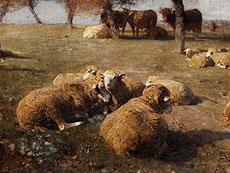 Detail images: Heinrich Johann von Zügel, 1850 Murrhardt - 1941 München