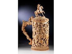 Detail images: Großer, seltener Prachthumpen in Elfenbein